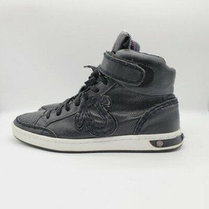 True Religion Mens High Top Black Sneakers Shoes
